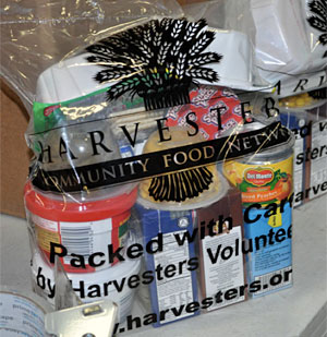 Donated food bag