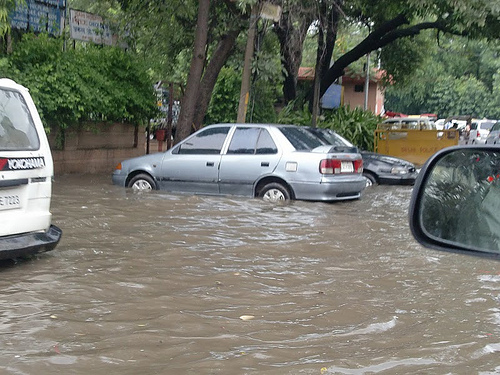 flood in New Delhi