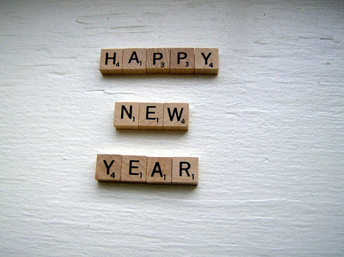 Scrabble Happy New Year