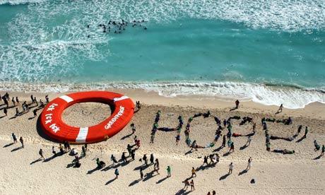 Hope on the beach