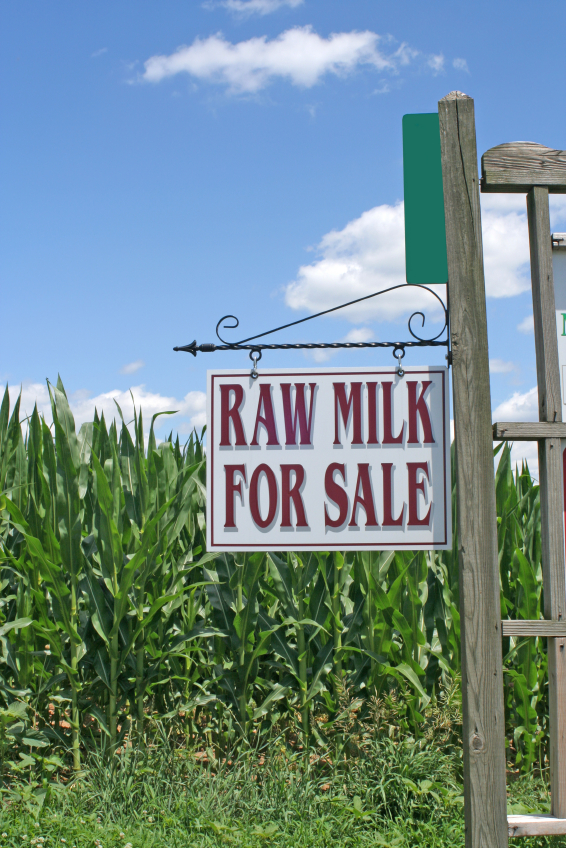 Raw Milk For Sale sign