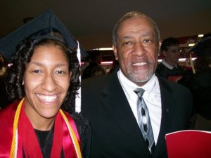 Kristen Jeffers and her dad.