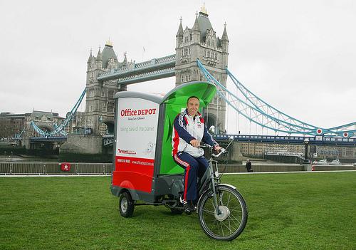 Office Depot freight bike, London.