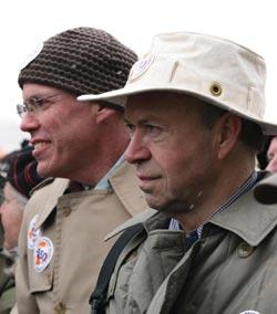 Bill McKibben and James Hansen