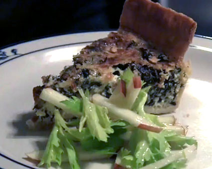 Quiche with kale
