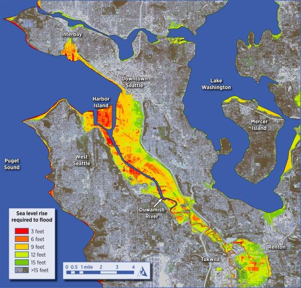 Seattle sea rise