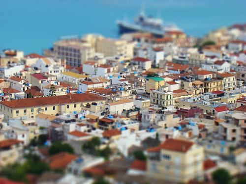 Mini town skyline