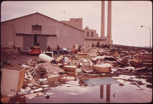 New York City Incinerator Plant at Gravesend Bay.