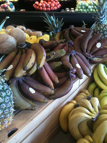 Different kinds of bananas