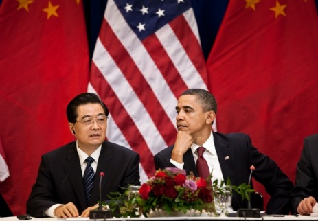 Premier Hu Jintao meets with President Obama