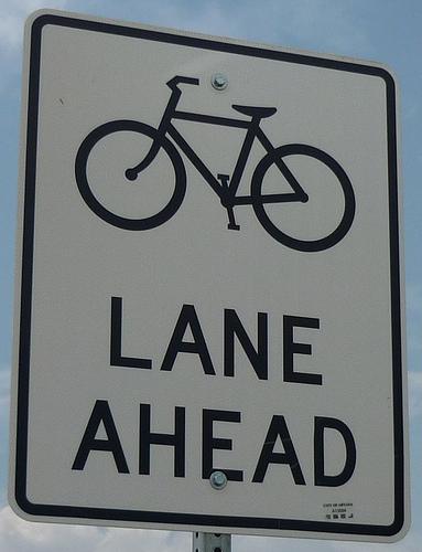 Bicycle lane ahead