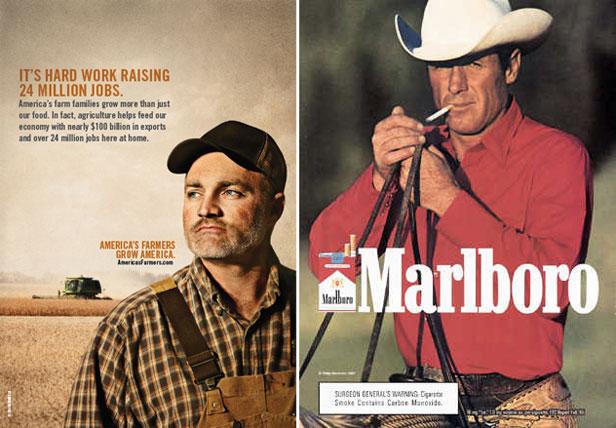Monsanto ad and Marlboro ad