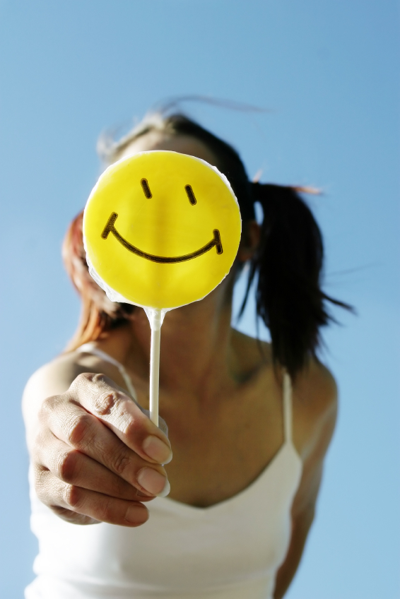 Smiley lollipop