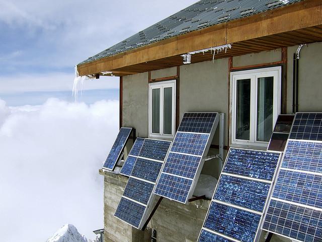 icy solar panels