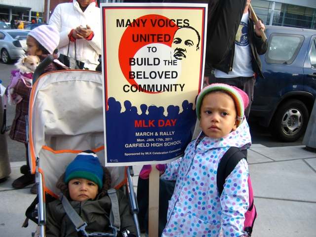 Kids at MLK Day Rally
