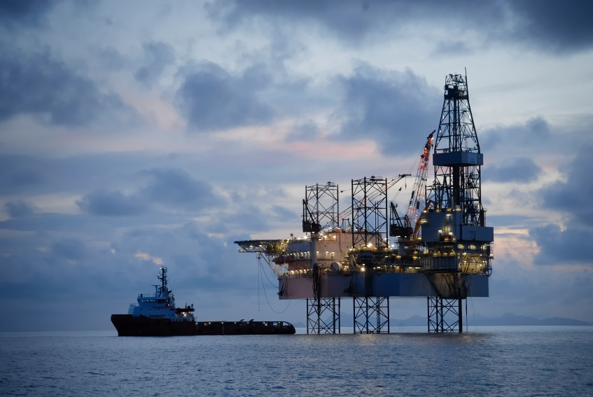 Offshore drilling.