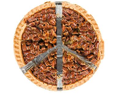 Pecan pie as a peace symbol