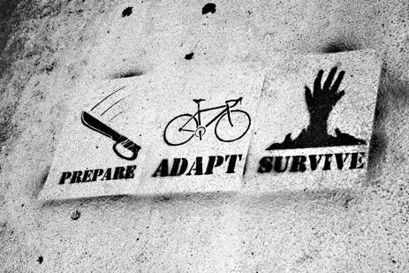 Prepare, adapt, survive graffiti