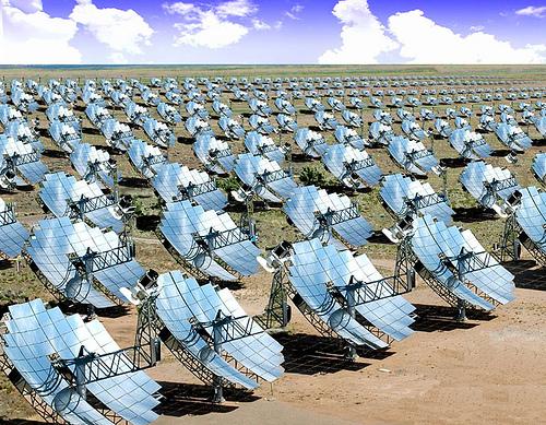 Solar thermal field