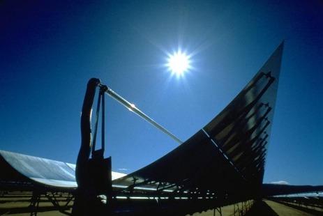 Solar trough