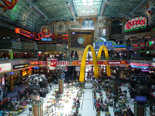 Food court in Cape Town, South Africa