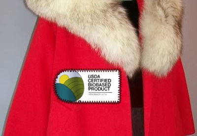 Fur coat with the bio-based label