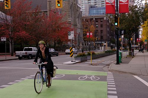Bike lane, Vancouver