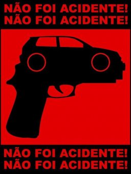 Poster about car violence.