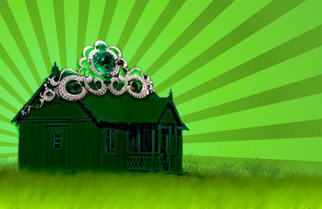 House with tiara