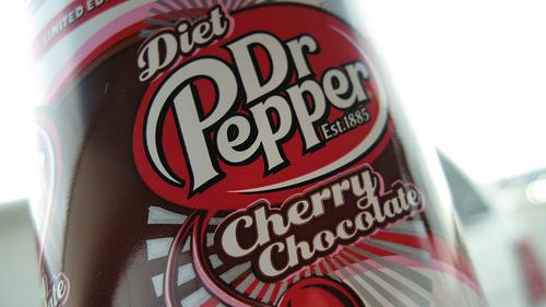 bottle of Diet Dr. Pepper