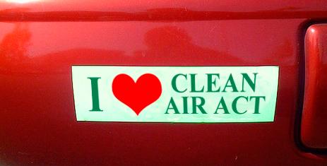 I love clean air bumper sticker