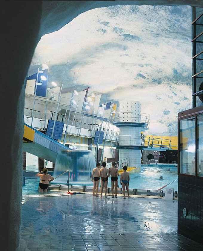 underground swimming pool