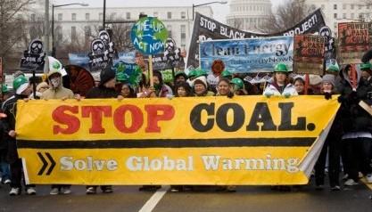 anti-coal protestors