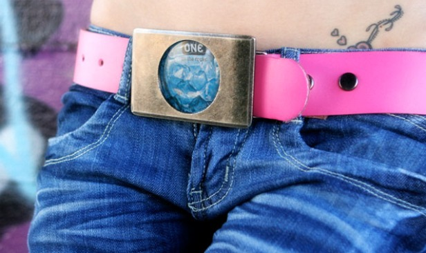 The Love Buckle condom belt from OhMiBod