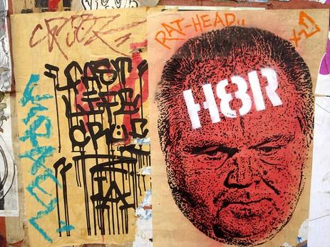 Rush Limbaugh graffiti