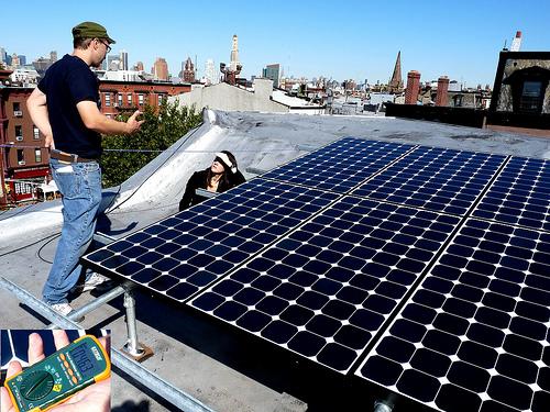 solar PV array in Brooklyn, N.Y.