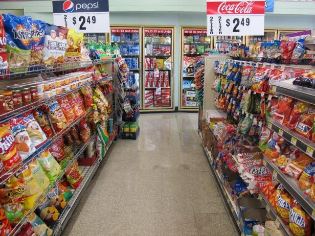 Store full of junk food.