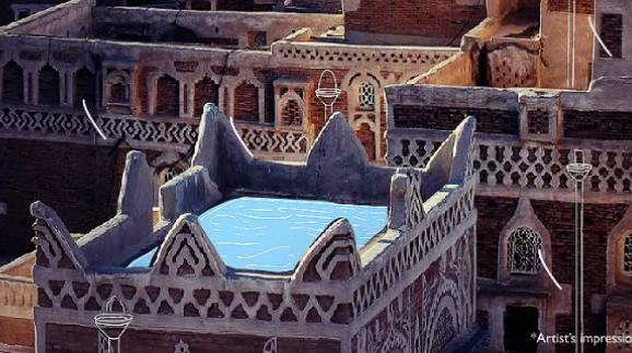 Rooftop water in Yemen.