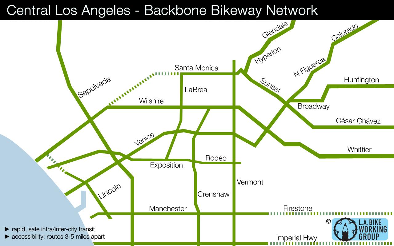 Bike map of L.A.