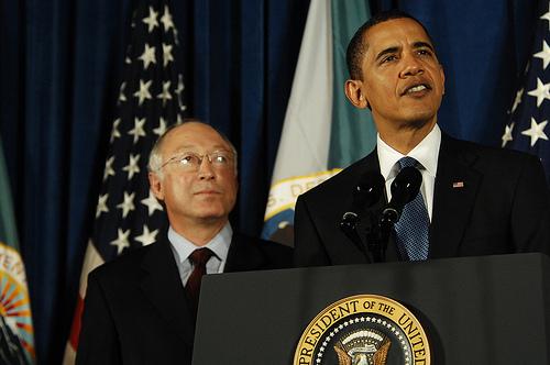 Barack Obama and Ken Salazar