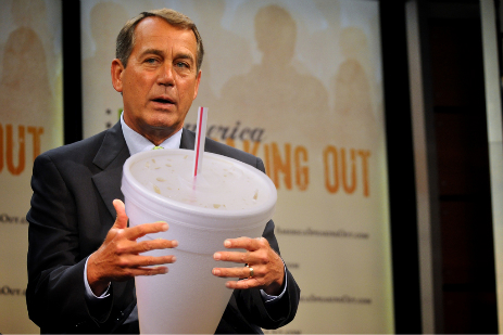 Boehner with cup