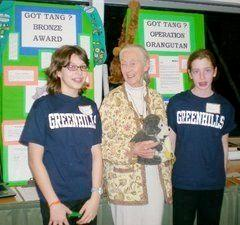 girl scouts with Jane Goodall