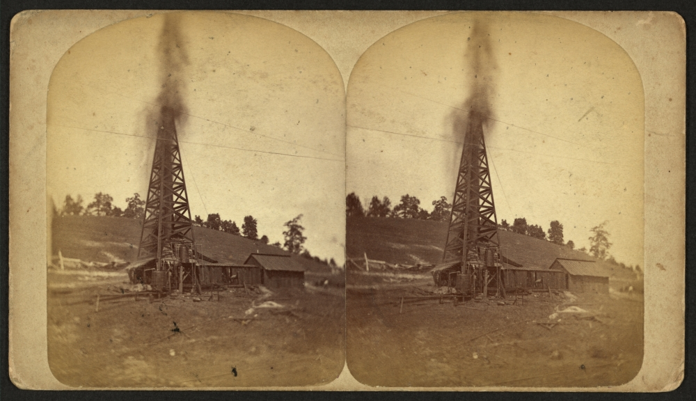 Lady Hunter oil well, circa 1880.