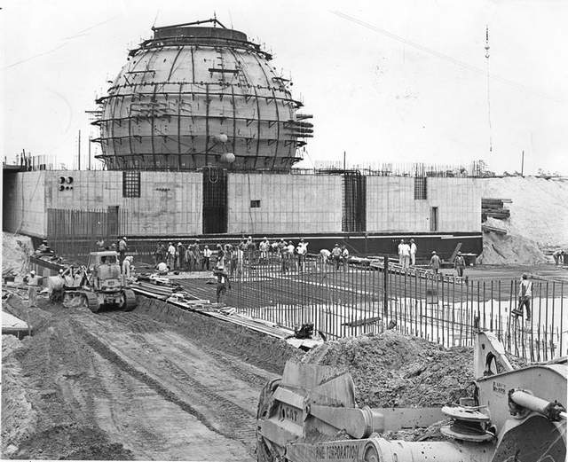Oyster Creek nuclear plant, under construction, circa 1965