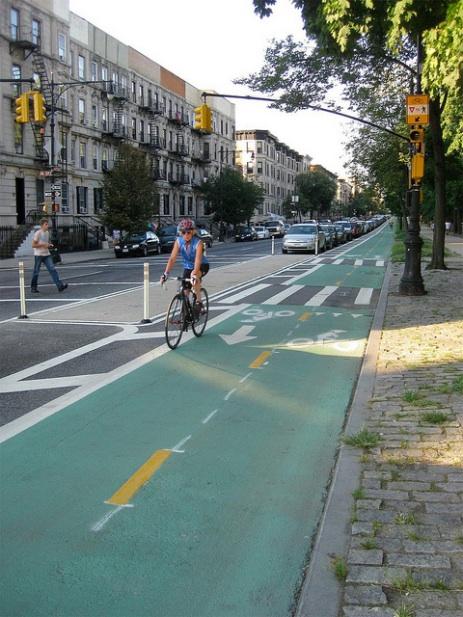 bike lane in prospect park