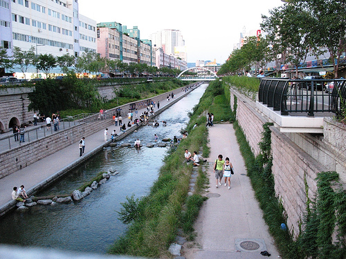 Cheonggyecheon in Seoul, Korea