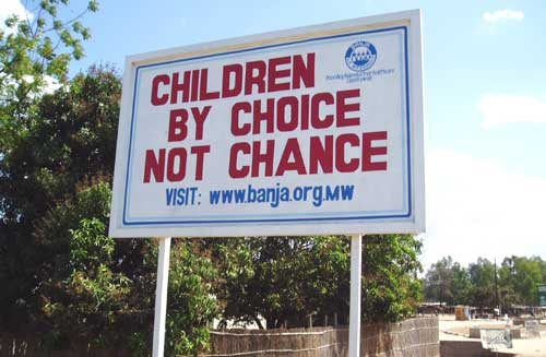 """sign: """"children by choice not chance"""""""