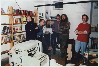 Members of the Environmental Library, photographed by the Stasi on the night of their arrest, 24-25 November 1987, during a search of the premises.