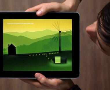 wind turbine graphic in app