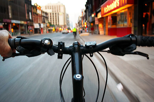 View from a bike.